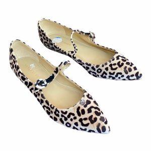 Marc Fisher Cheetah Print Pointed Toe Flats
